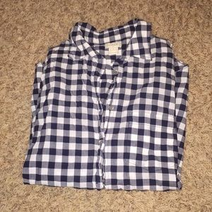 J Crew NWOT blue checkered top